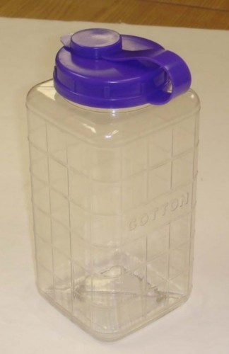 Cotton Dispenser Bottle, Large Random Color Caps