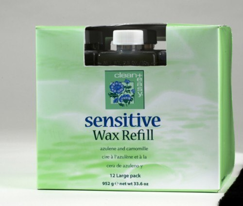 Clean+ Easy Sensitive Wax Refill - Large Cartridges, 12 Pack