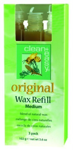 Clean+ Easy Original Wax Refill - Medium Cartridges, 3 Pack