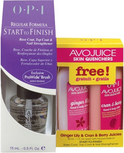 OPI Start-to-Finish Regular Formula: FREE Avojuice, Ginger Lily and Cran & Berry