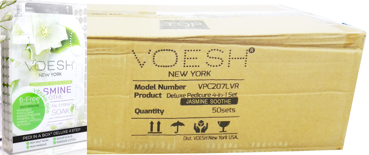Voesh Case/50pcs, Pedi in a Box (4 steps - Jasmine Soothe
