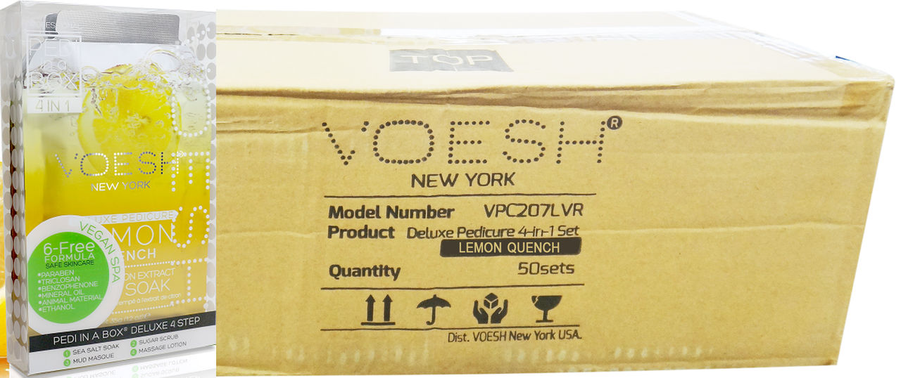 Voesh Case/50pcs, Pedi in a Box (4 steps - Lemon Quench