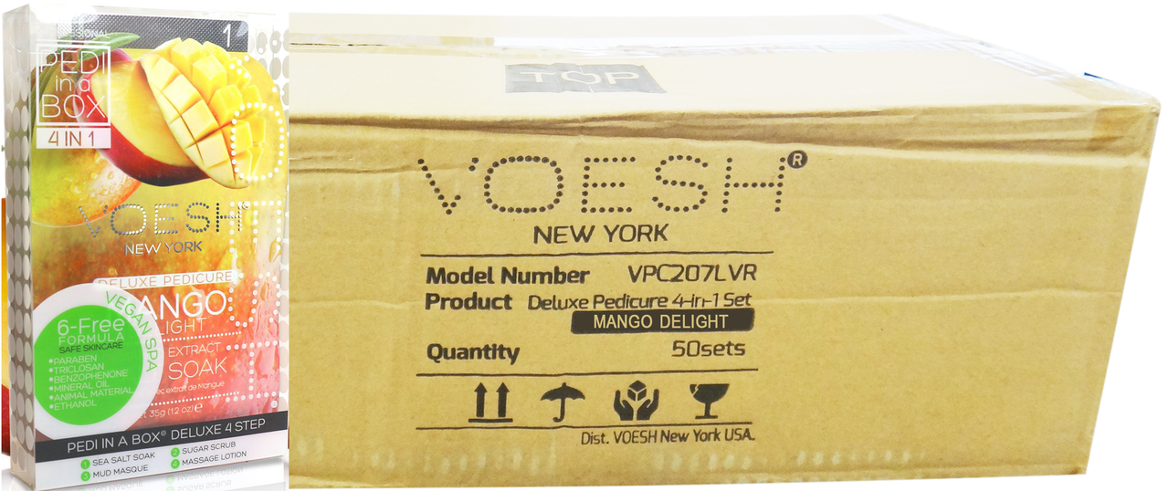 Voesh Case/50pcs, Pedi in a Box (4 steps - Mango Delight