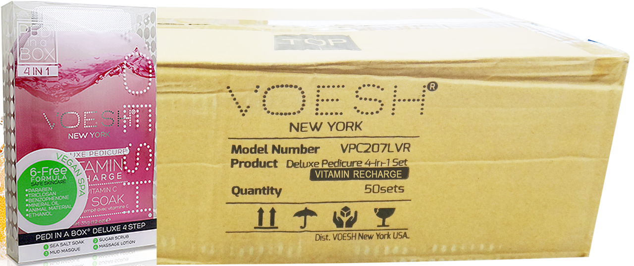 Voesh Case/50pcs, Pedi in a Box (4 steps - Vitamin Recharge