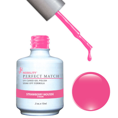 PERFECT MATCH - Gel Polish + Lacquer, STRAWBERRY MOUSSE PMS52
