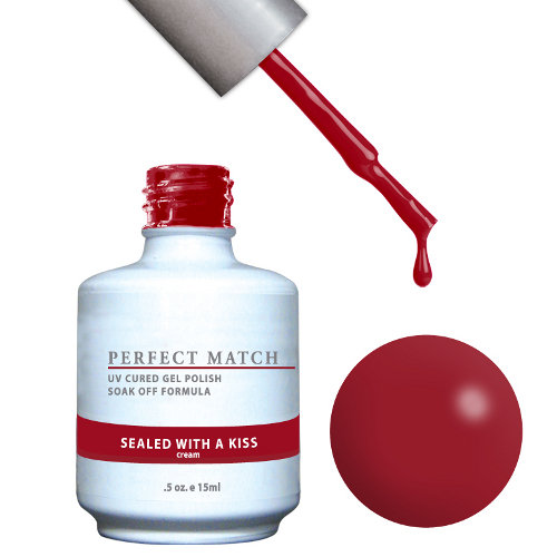 PERFECT MATCH - Gel Polish + Lacquer, SEALED WITH A KISS PMS91
