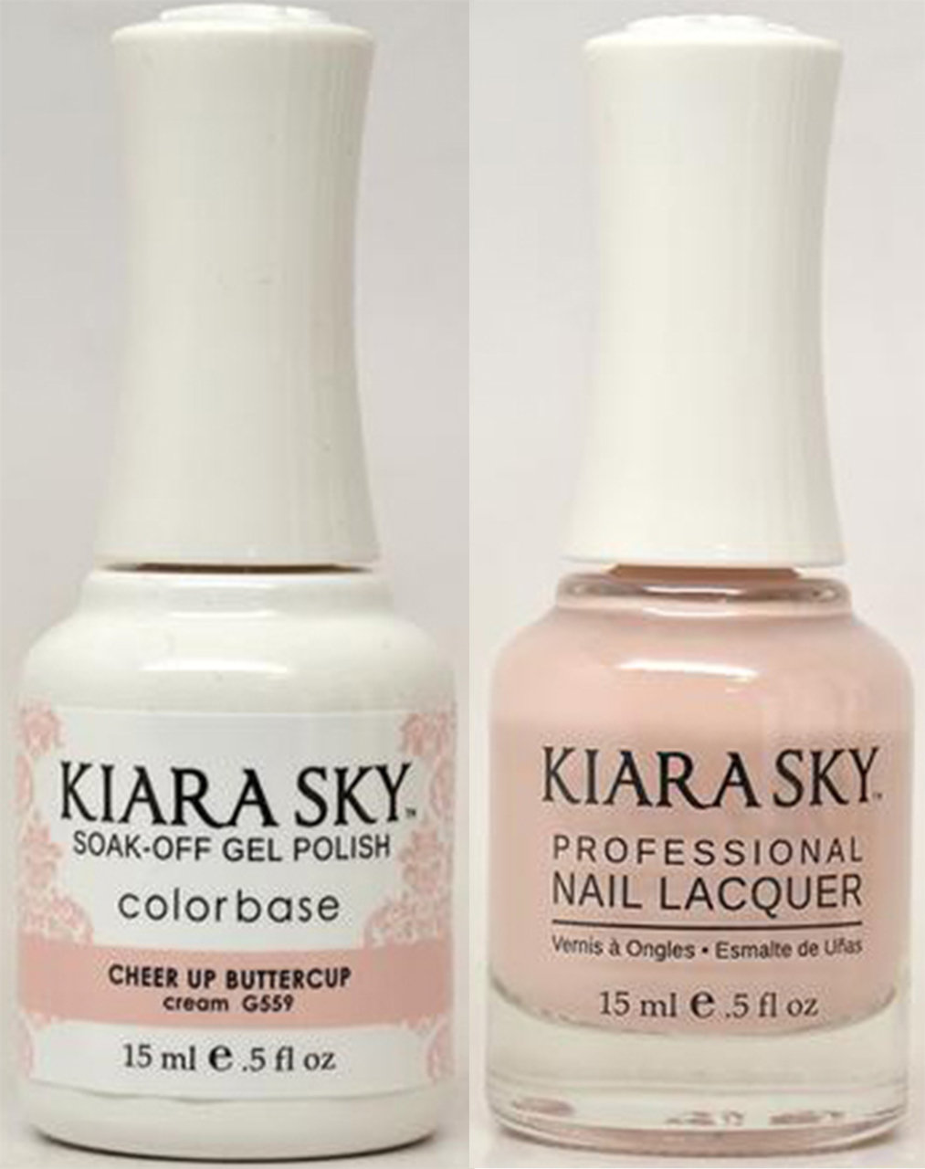 Kiara Sky Gel + Lacquer, CHEER UP BUTTERCUP G559