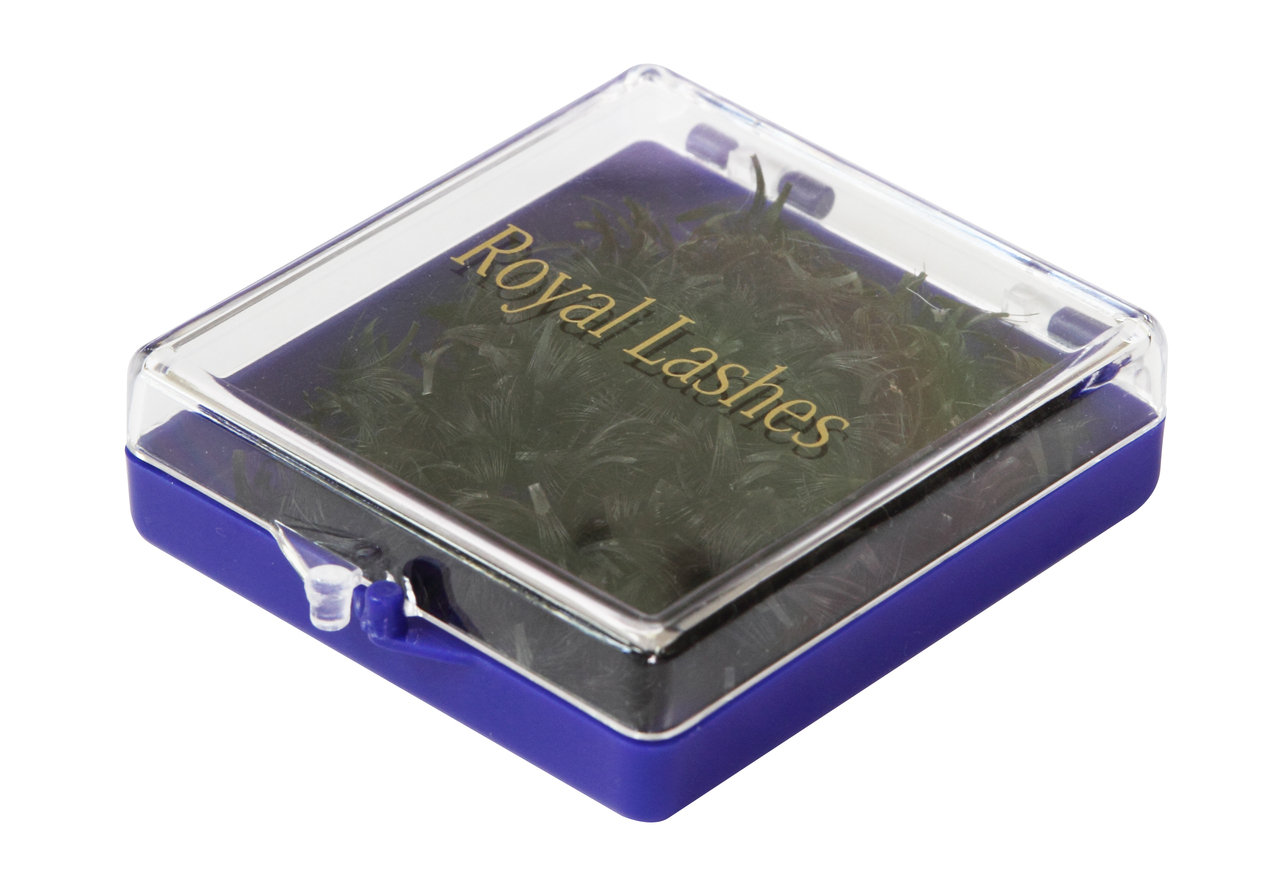 QL Royal Lashes 20 Strands Flare, 500 pcs (dark blue box