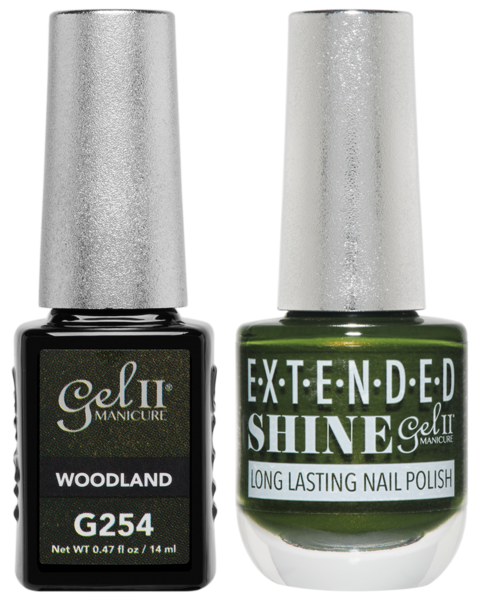 Gel II + Matching Extended Shine Polish, WOODLAND #G254 - #ES254