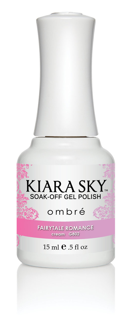 Kiara Sky Ombre Color Changing Gel Polish, Fairytale Romance .5oz G802