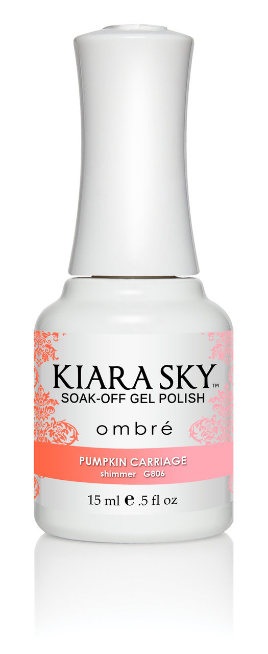 Kiara Sky Ombre Color Changing Gel Polish, Pumpkin Carriage .5oz G806