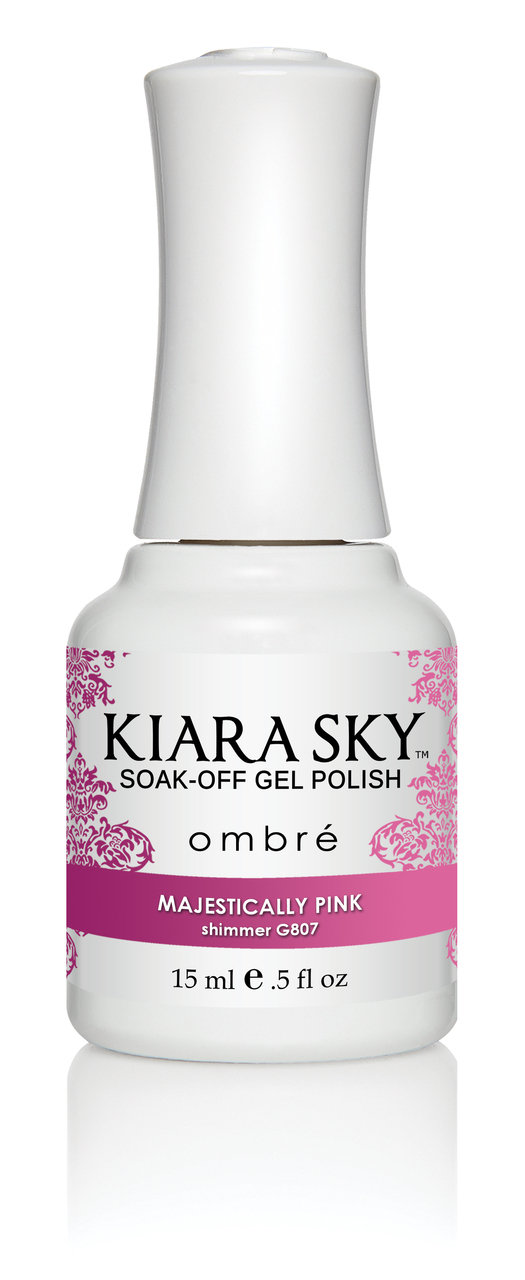 Kiara Sky Ombre Color Changing Gel Polish, Majestically Pink .5oz G807