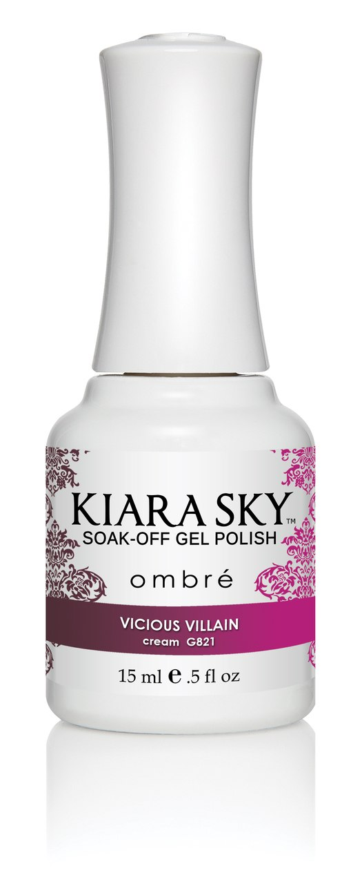 Kiara Sky Ombre Color Changing Gel Polish, Vicious Villain .5oz G821