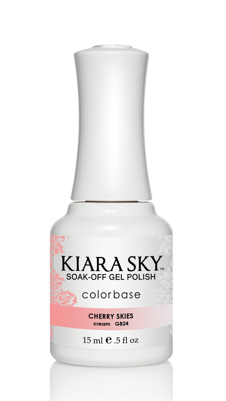Kiara Sky Ombre Color Changing Gel Polish, Cherry Skies .5oz G824