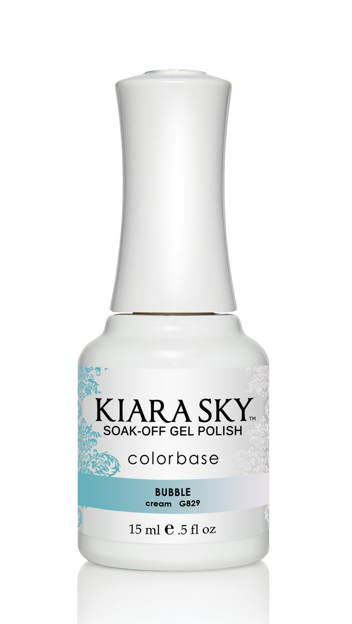 Kiara Sky Ombre Color Changing Gel Polish, Bubble .5oz G829