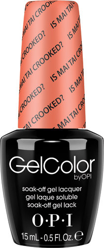 OPI GelColor - HAWAII, #GCH68 - Is Mai Tai Crooked?