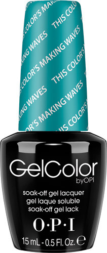 OPI GelColor - HAWAII, #GCH74 - This Color's Making Waves