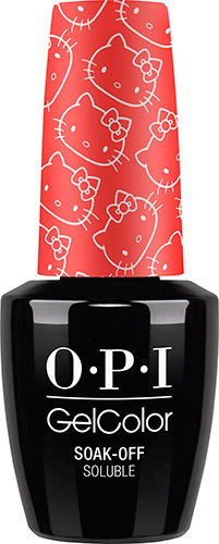 OPI GelColor - HELLO KITTY, #GCH89 - 5 Apples Tall