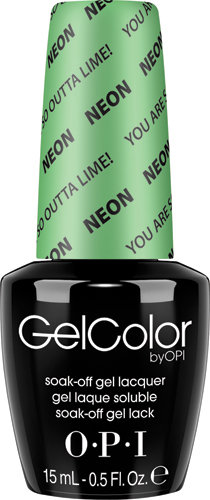 OPI GelColor - #GCN34 - Neon, You Are So Outta Lime!