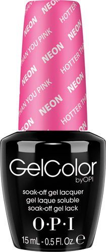 OPI GelColor - #GCN36 - Neon, Hotter Than You Pink