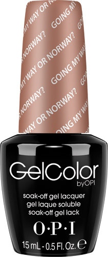 OPI GelColor - #GCN39 - Going My Way or Norway?