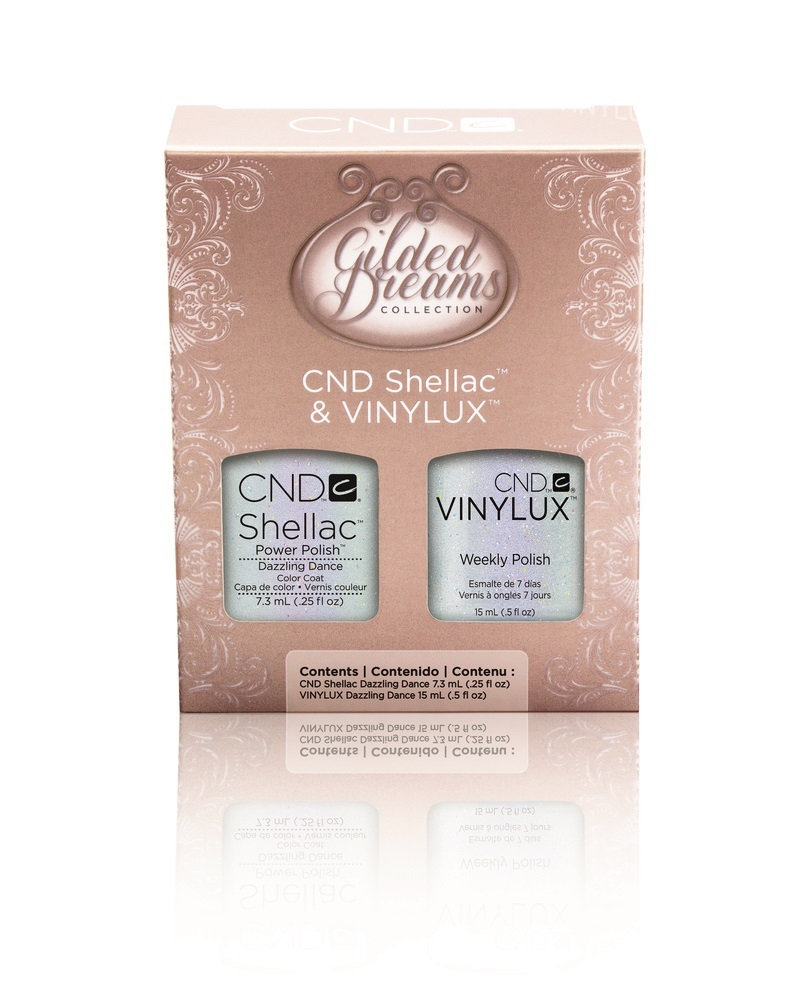 CND Gilded Dreams Collection SHELLAC & VINYLUX - Dazzling Dance Duo Kit