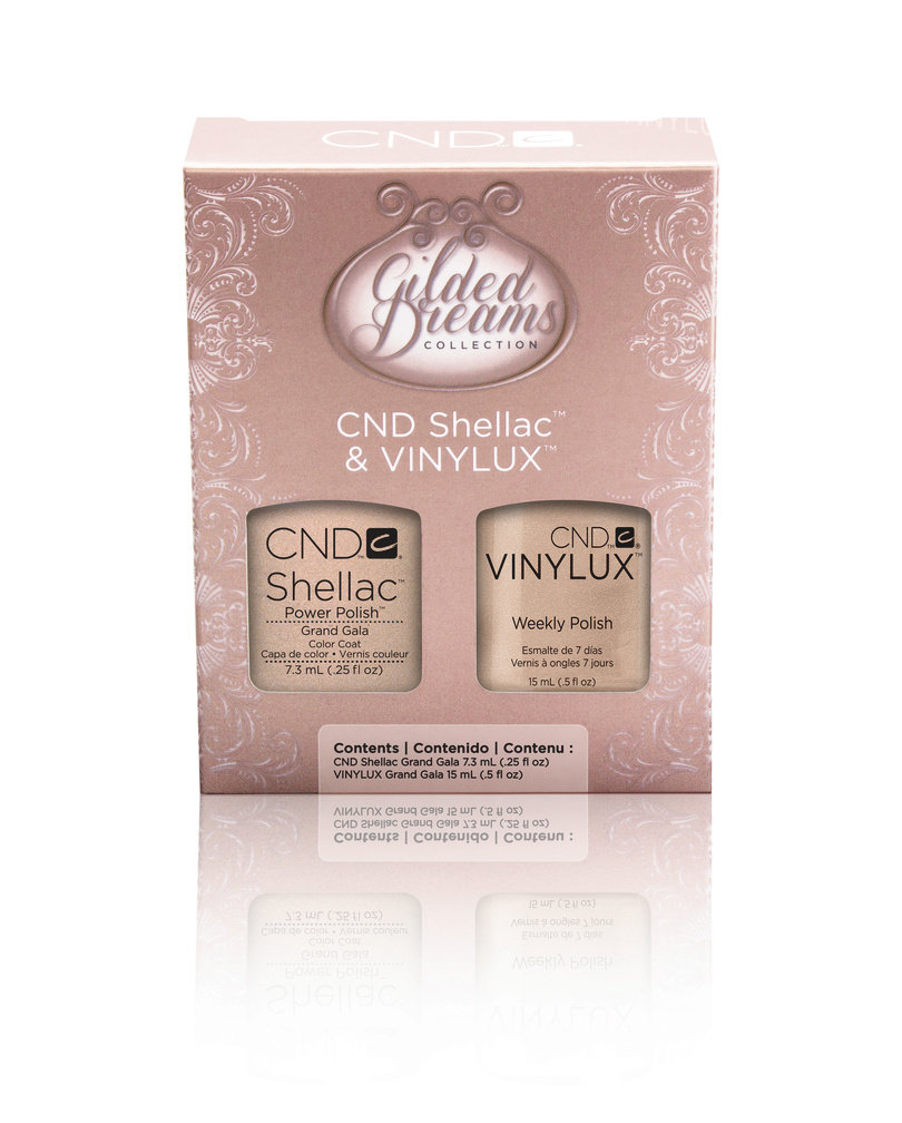 CND Gilded Dreams Collection SHELLAC & VINYLUX - Grand Gala Duo Kit