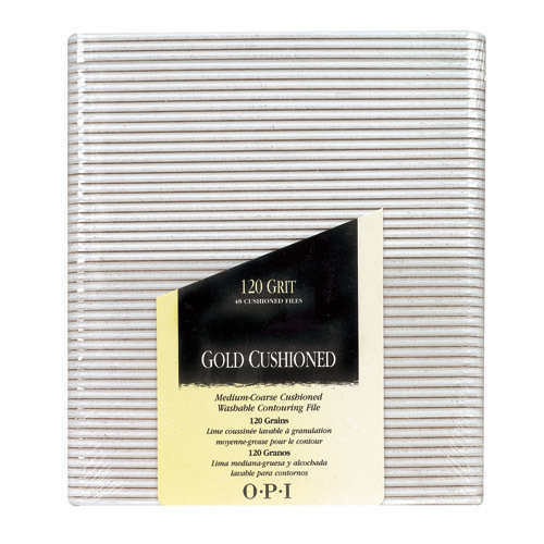 OPI - Gold Cushioned File - 120 Grit / Pack of 48