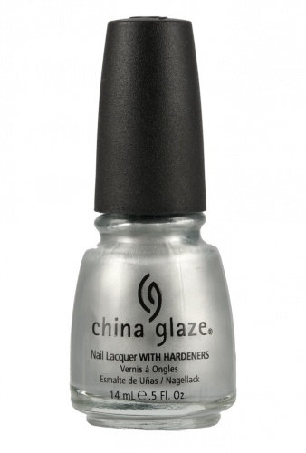 China Glaze Lacquer PLATINUM SILVER .5 oz #77051
