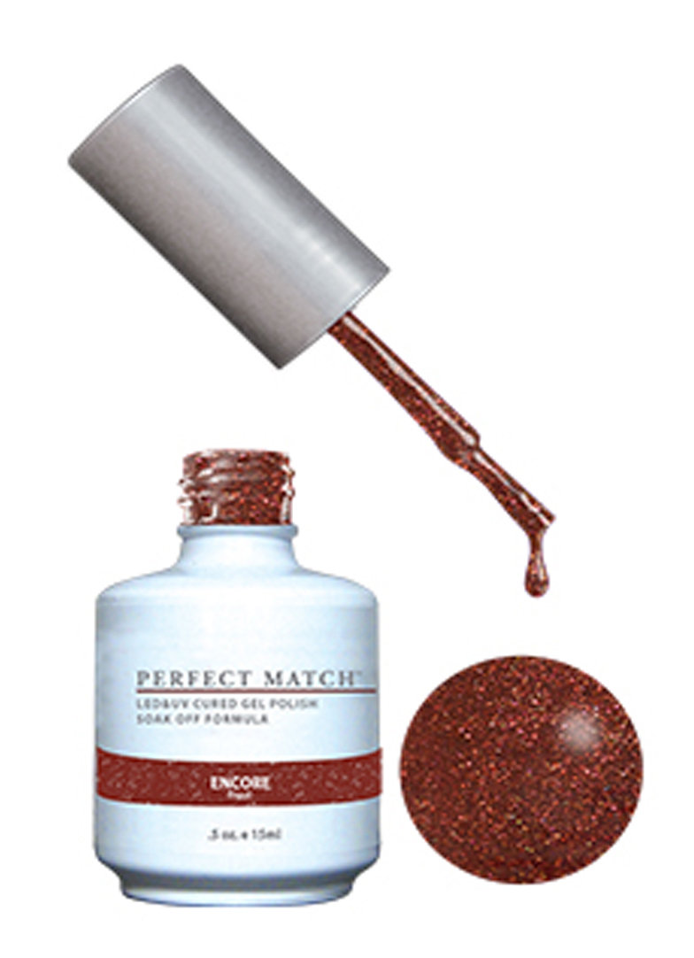 PERFECT MATCH - Gel Polish + Lacquer, Encore PMS162 - DW162