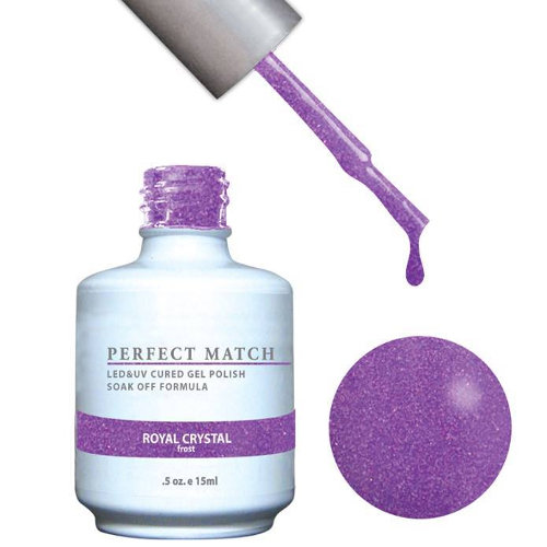 PERFECT MATCH - Gel Polish + Lacquer, ROYAL CRYSTAL PMS126
