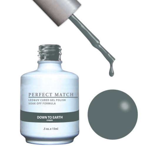 PERFECT MATCH - Gel Polish + Lacquer, Down To Earth PMS127