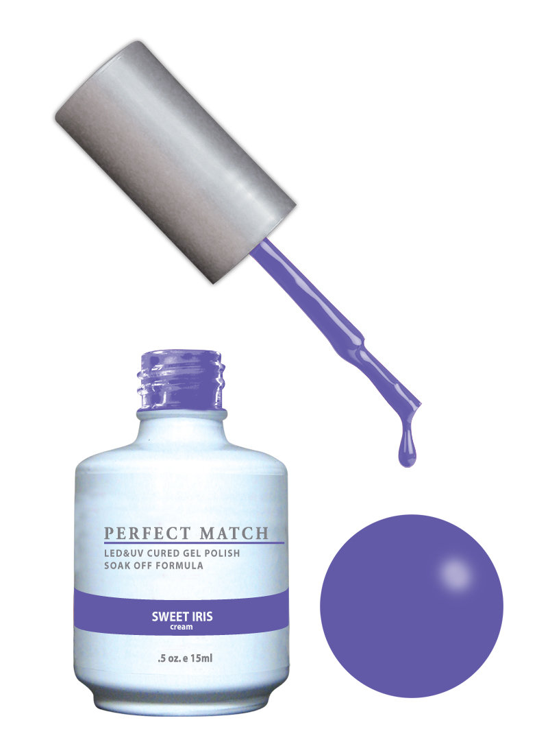 PERFECT MATCH - Gel Polish + Lacquer, Sweet Iris PMS148 - DW148