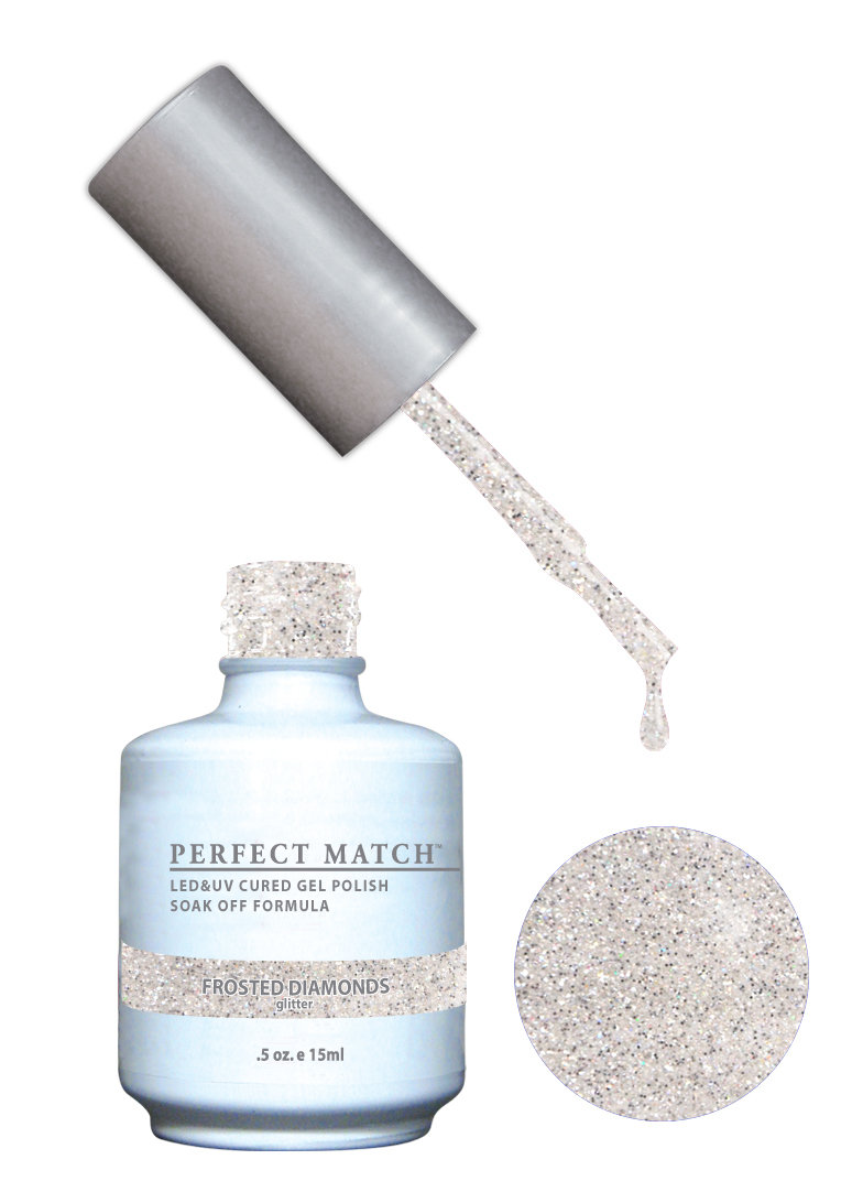 PERFECT MATCH - Gel Polish + Lacquer, Frosted Diamonds PMS163 - DW163