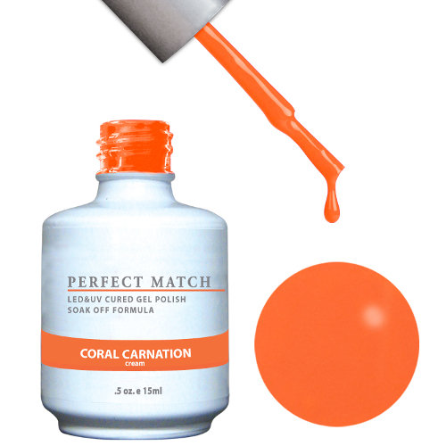 PERFECT MATCH - Gel Polish + Lacquer, CORAL CARNATION PMS97