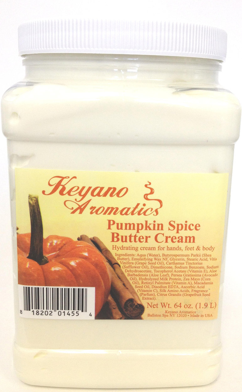 Keyano Manicure & Pedicure, Pumpkin Spice Butter Cream 64oz