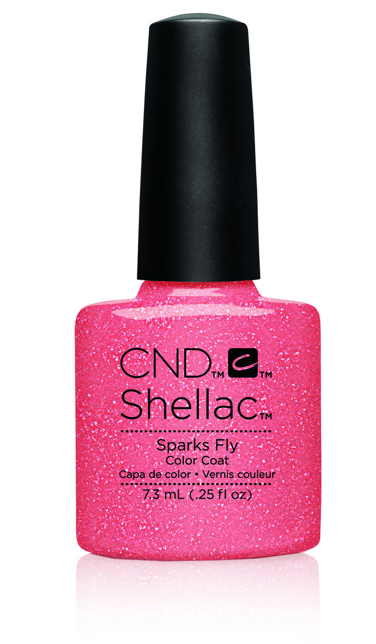 SHELLAC UV Color Coat -FLIRTATION - Sparks Fly .25oz #91177