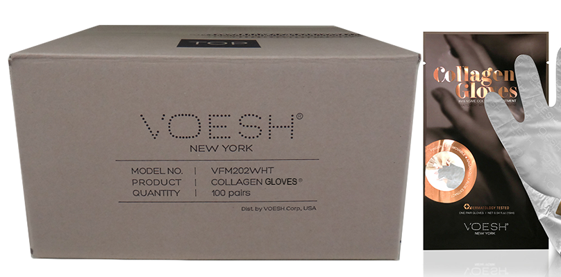 Voesh Collagen with Argan Oil + Aloe Extract, Glove Case/100 pairs