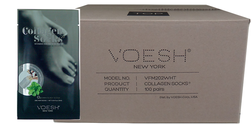 Voesh Collagen with Herb Extract, Socks Case/100 pairs