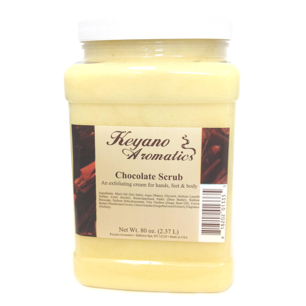 Keyano Manicure & Pedicure, Chocolate Scrub 80 oz