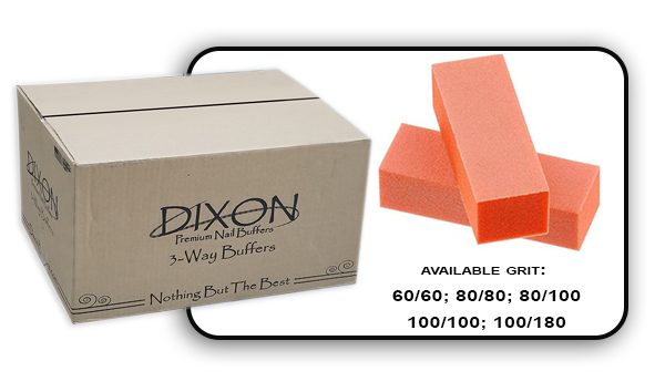 3 Way Buffer block Orange-White Grit 60/60 Case 500pcs