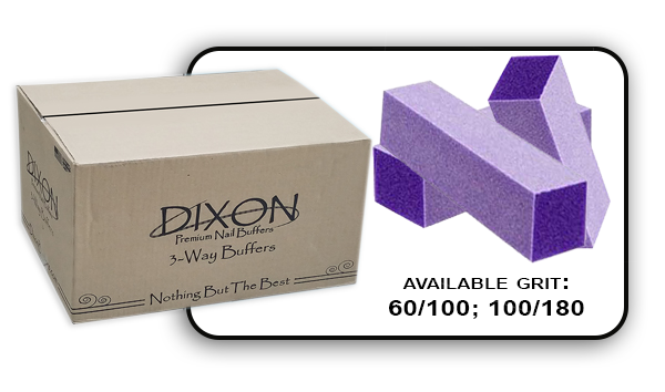3 Way Buffer block Purple-White Grit 100/180 Case 500pcs