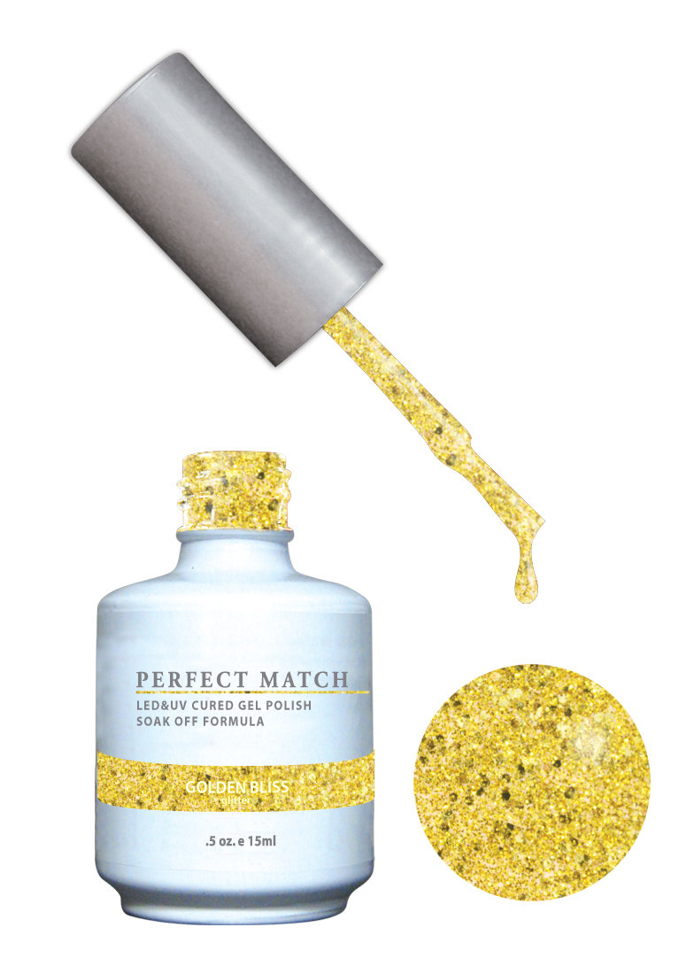PERFECT MATCH - Gel Polish + Lacquer, Golden Bliss PMS135