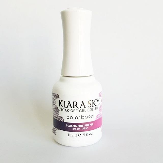 Kiara Sky Ombre Color Changing Gel Polish, Poisonous Purple .5oz G837