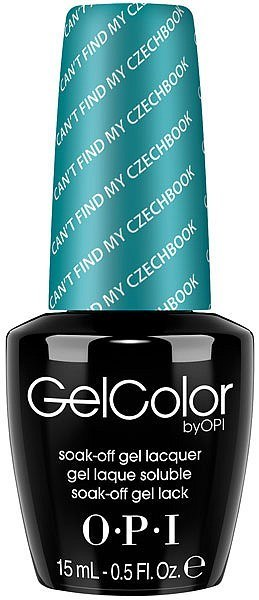OPI GelColor - #GCE75 - Can't Find My Czechbook