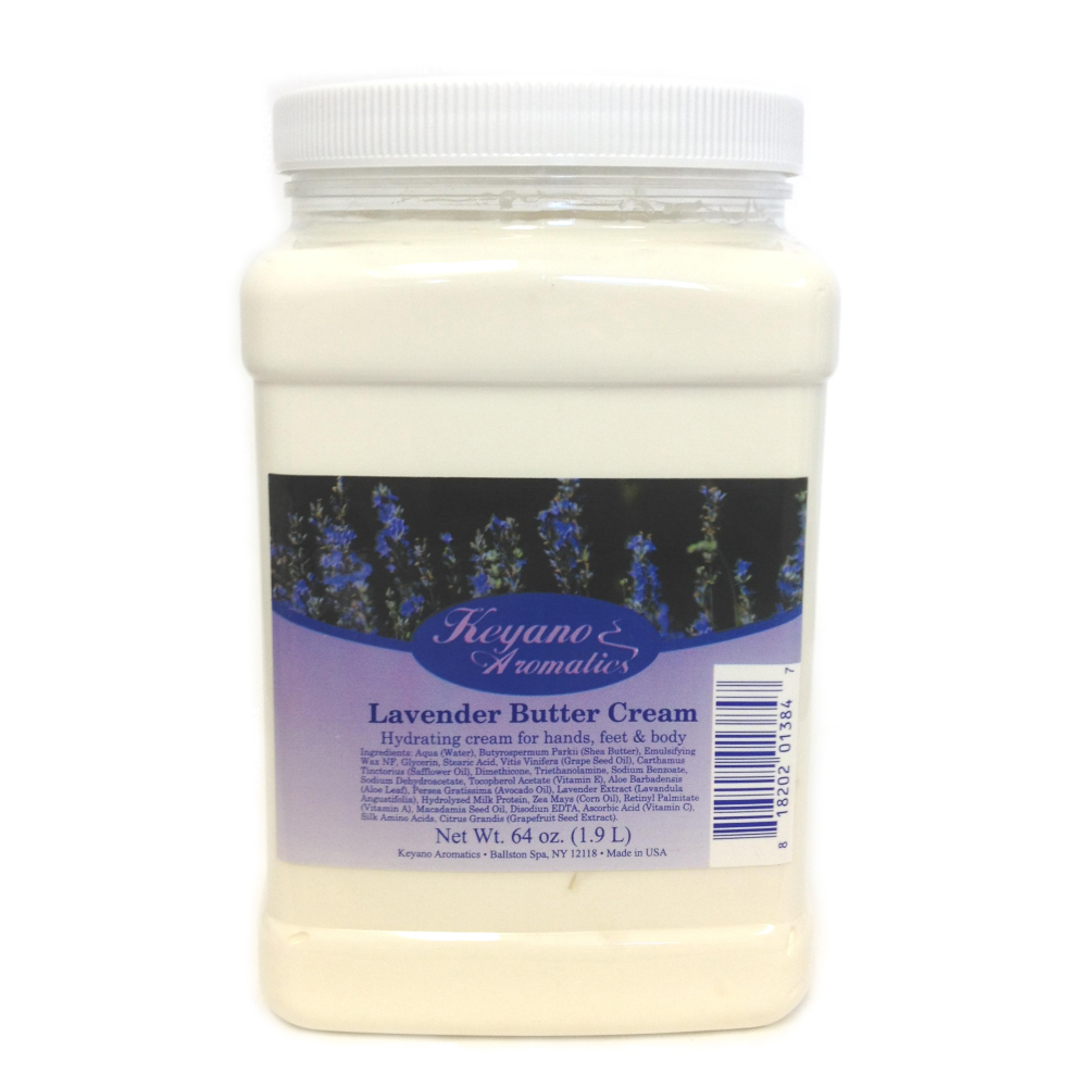 Keyano Manicure & Pedicure, Lavender Butter Cream 64oz
