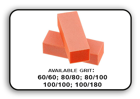3 Way Buffer block Orange-White Grit 60/60 Pack of 20pcs