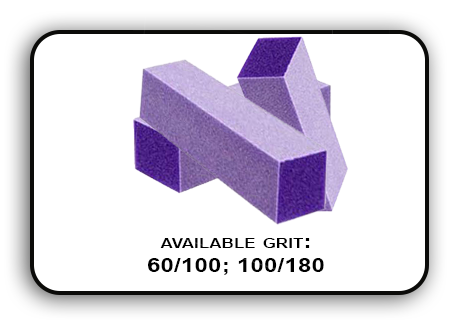 3 Way Buffer block Purple-White Grit 100/180 Pack of 20pcs