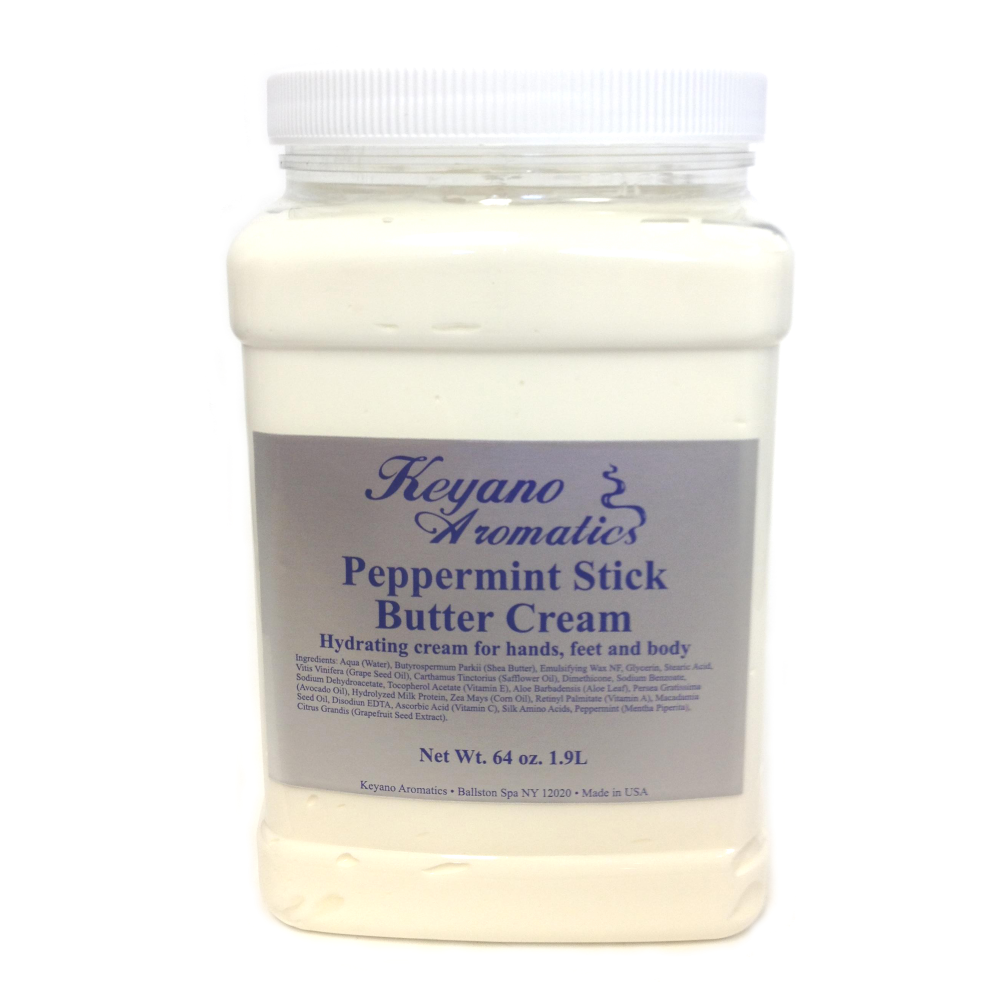 Keyano Manicure & Pedicure, PepperMint Stick Butter Cream 64oz