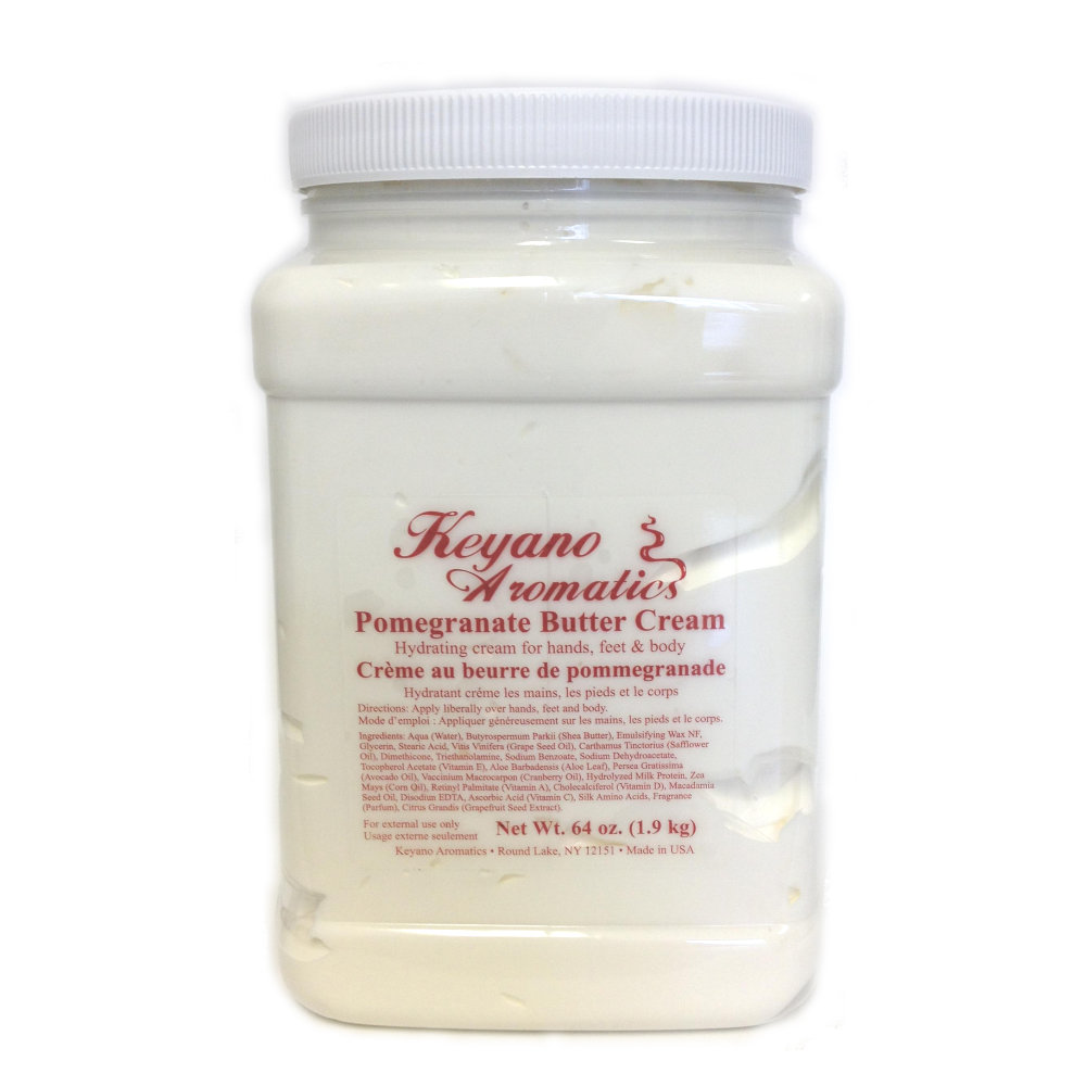 Keyano Manicure & Pedicure, Pomegranate Butter Cream 64oz